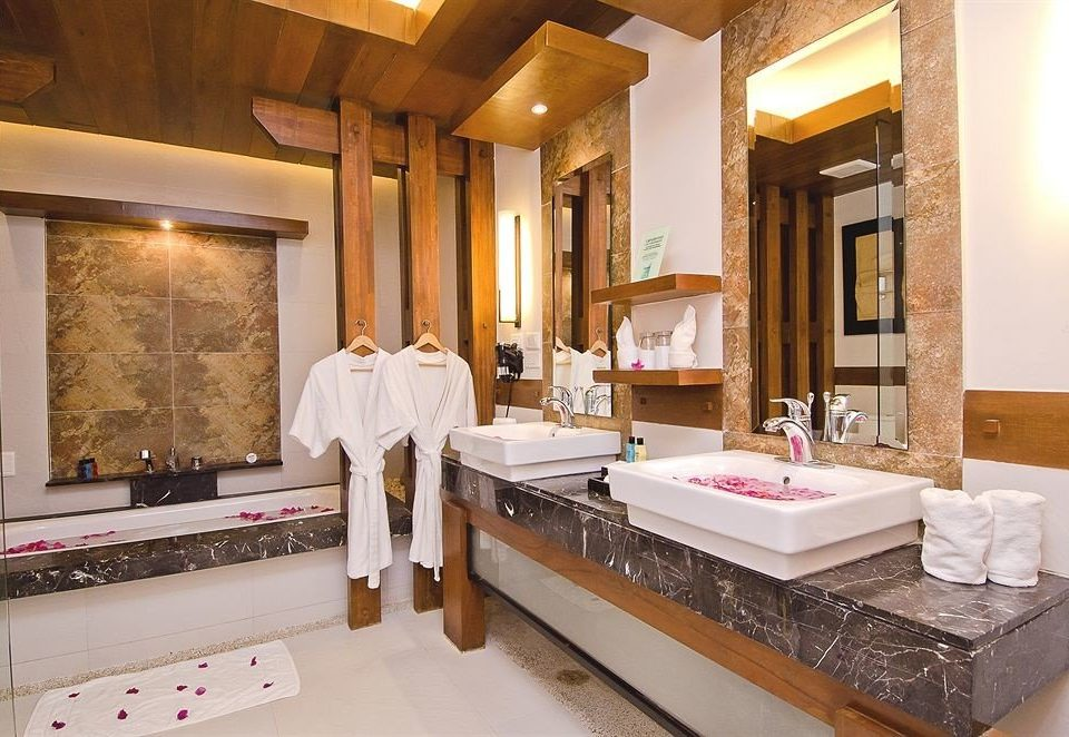 bathroom sink property Suite Lobby Villa counter mansion home living room Resort restaurant Modern Bath tub bathtub