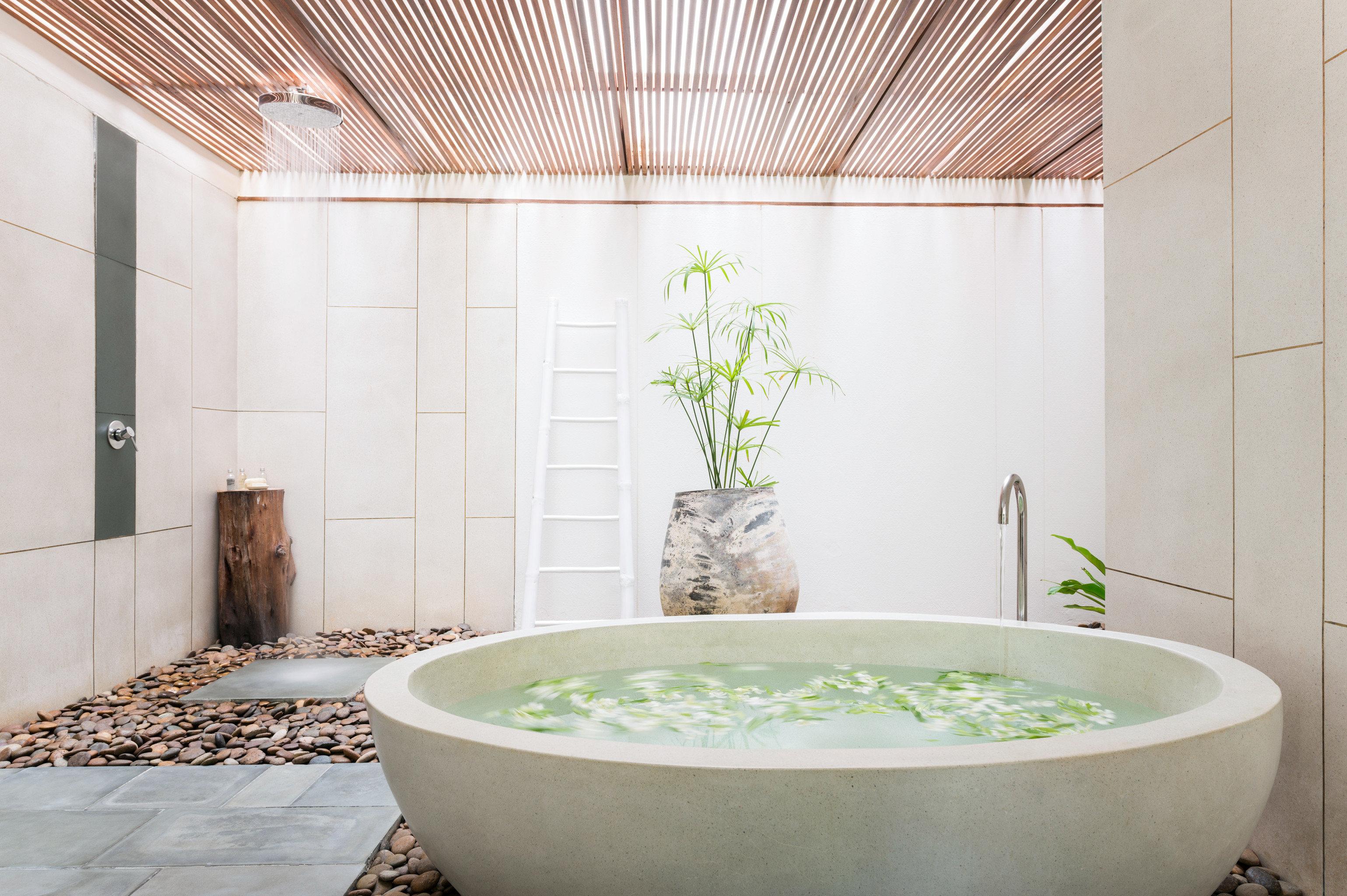 Bath Lounge Luxury Romantic bathroom bathtub plumbing fixture flooring sink swimming pool bidet tile tub
