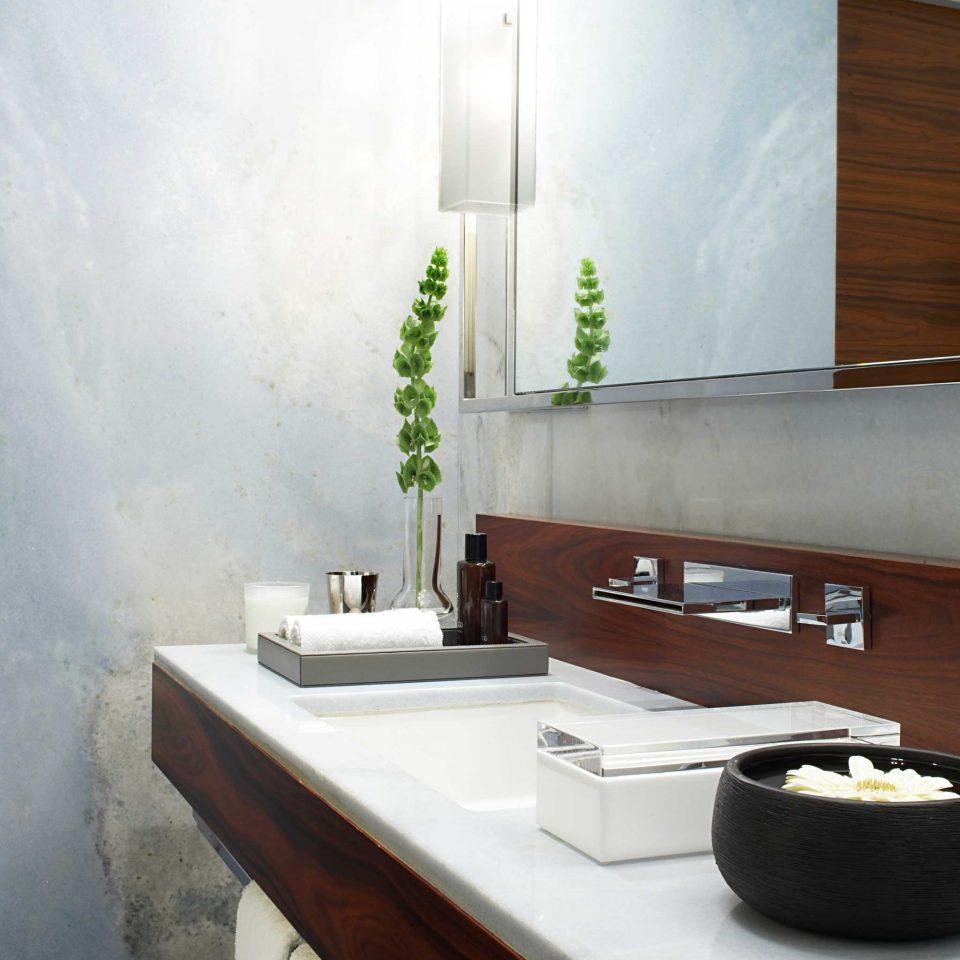 Bath Luxury Modern bathroom sink countertop lighting home plumbing fixture flooring tan