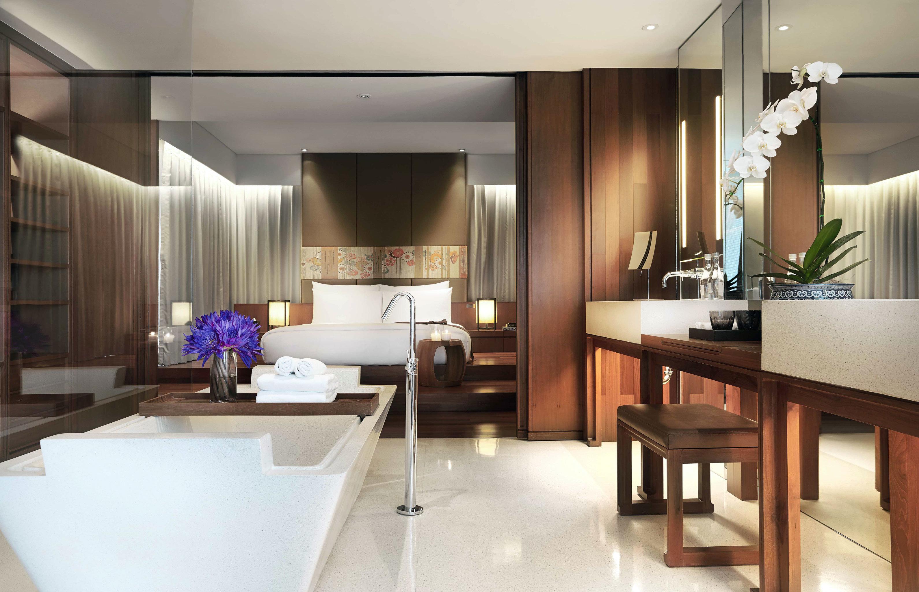 Bath Luxury Modern property condominium Suite lighting home living room dining table