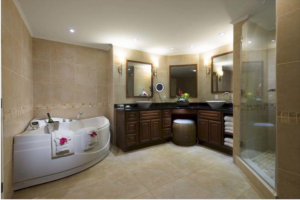 Bath Luxury Resort Romantic bathroom property sink Suite home flooring mansion condominium tile tub bathtub