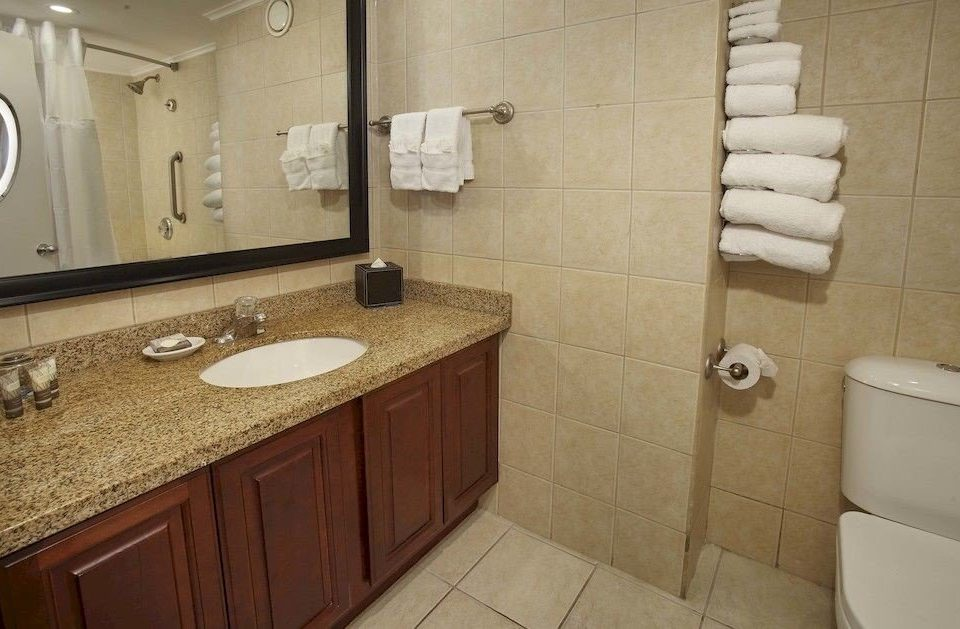 Bath Luxury Resort Romantic bathroom sink property toilet cottage flooring plumbing fixture tile tan