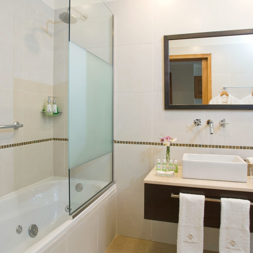 Bath Luxury Romantic bathroom mirror property vessel scene sink white tub plumbing fixture bidet toilet bathtub