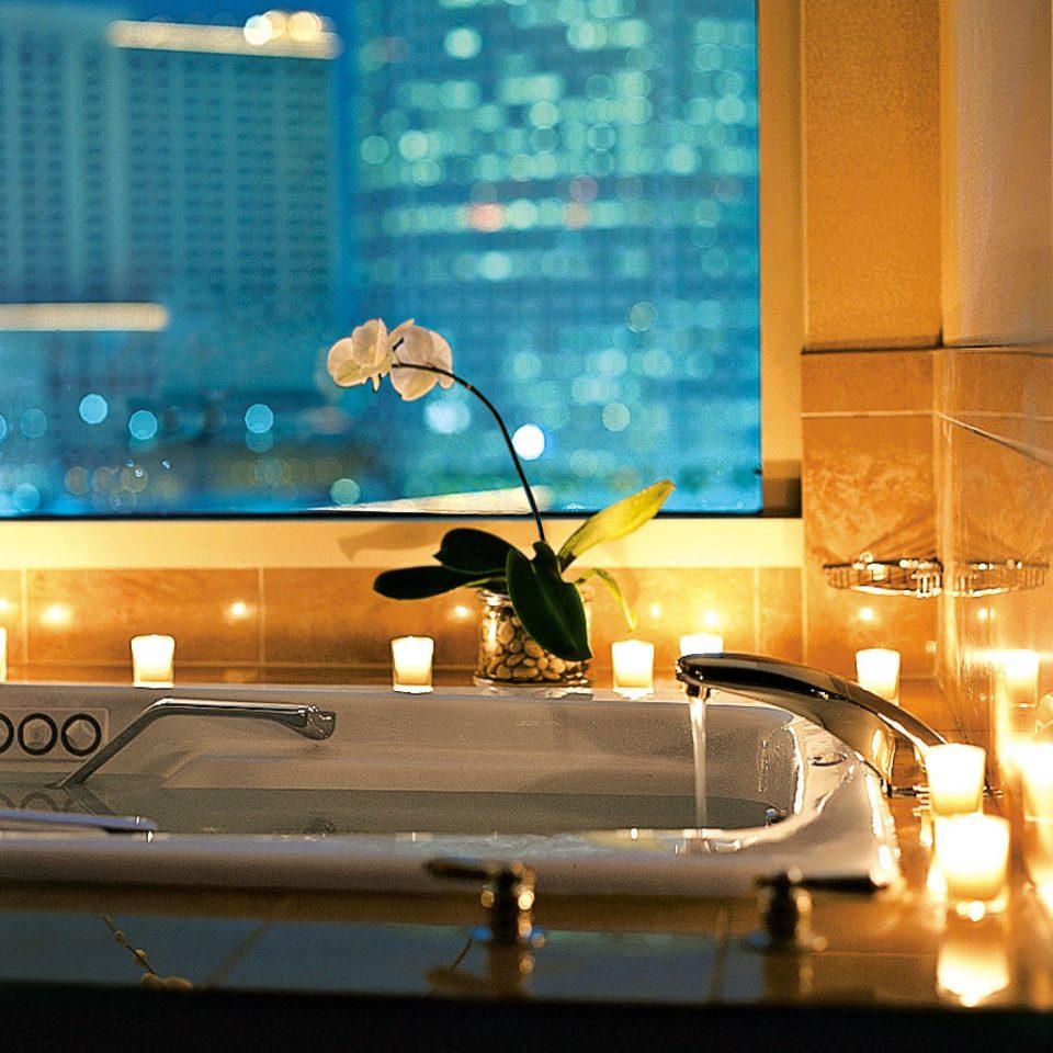 Bath Luxury Romantic color sink light night lighting glass shape