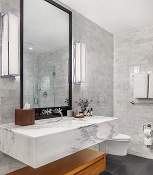 bathroom plumbing fixture bathtub tile sink bathroom cabinet flooring tub Modern Bath tiled
