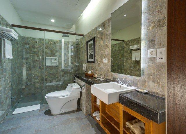 bathroom property home cottage flooring tub Modern Bath stone bathtub