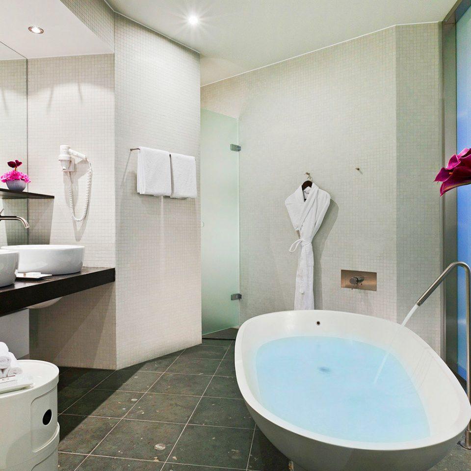 Bath Modern bathroom sink property toilet bidet counter