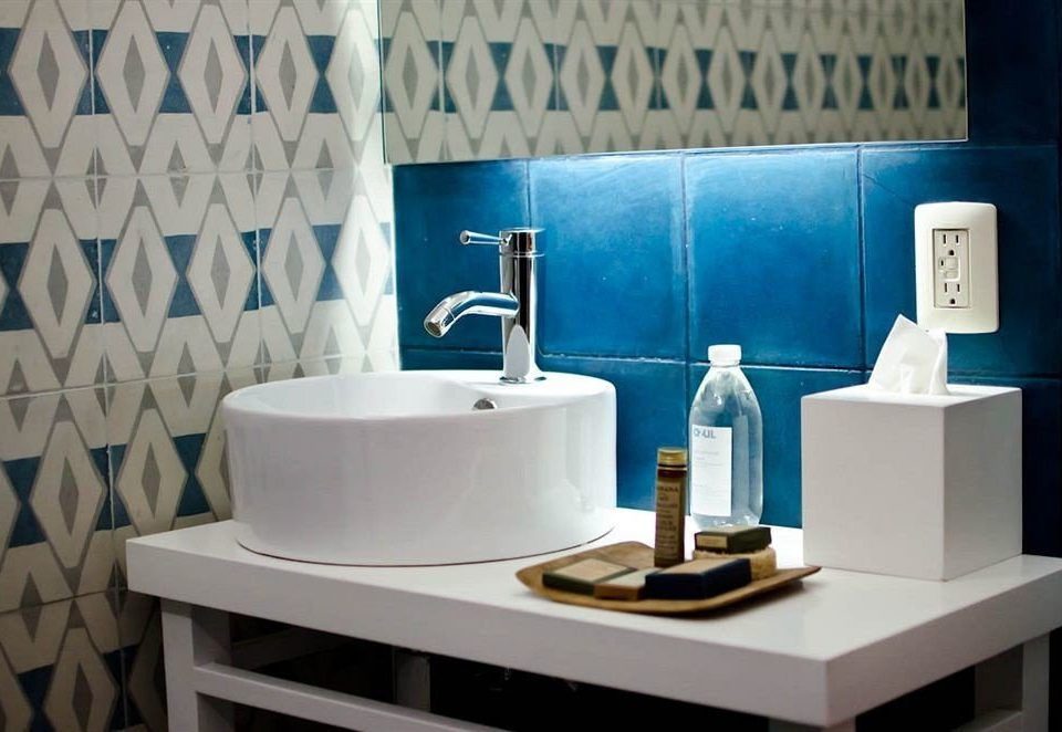 Bath Modern white blue bathroom home plumbing fixture