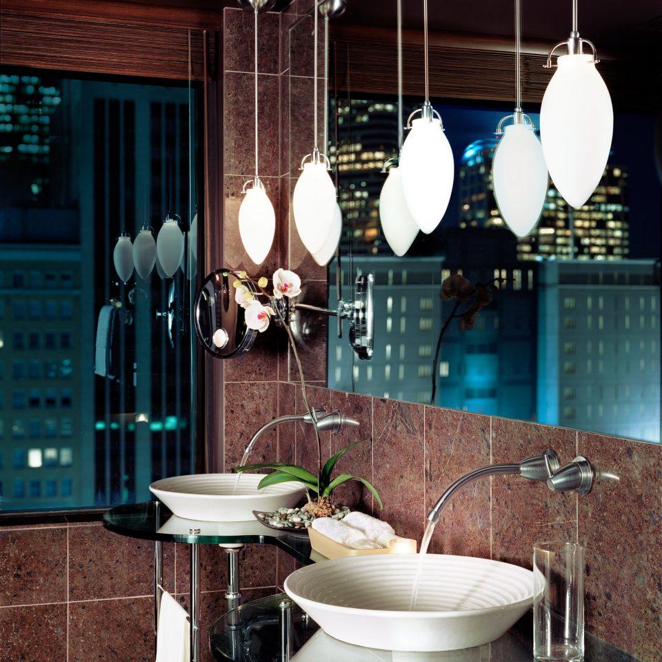 Bath Modern Scenic views bathroom lighting home tiled