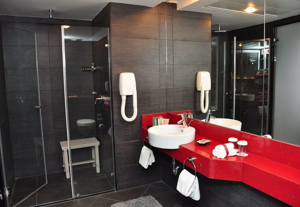 bathroom plumbing fixture Suite public toilet Modern toilet stall tile Bath tiled