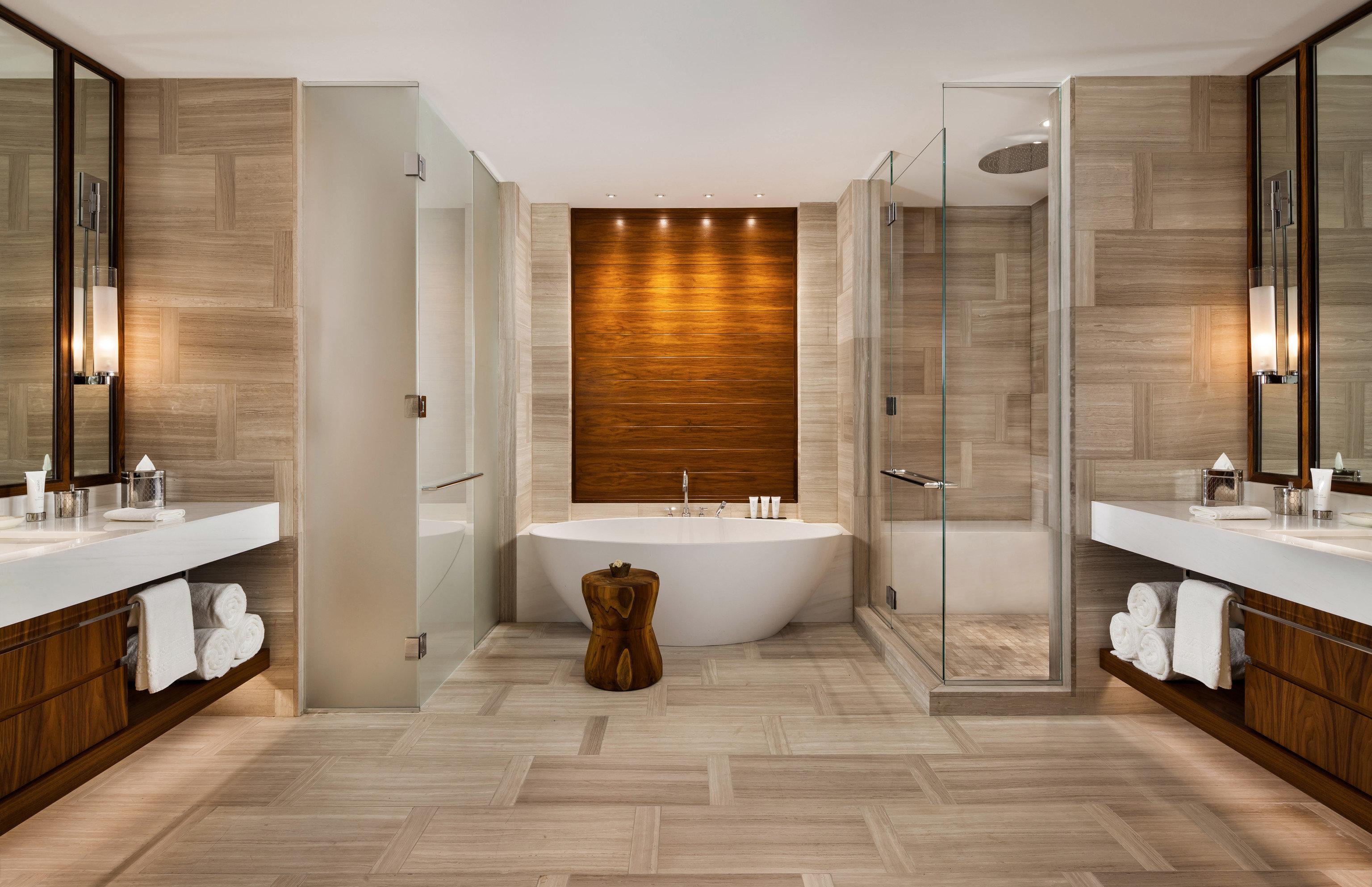 bathroom property flooring hardwood sink wood flooring home Suite tile tub Bath Modern bathtub
