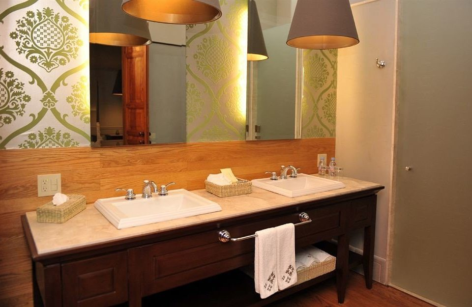 Bath bathroom sink mirror property house home Suite cottage lighting Modern