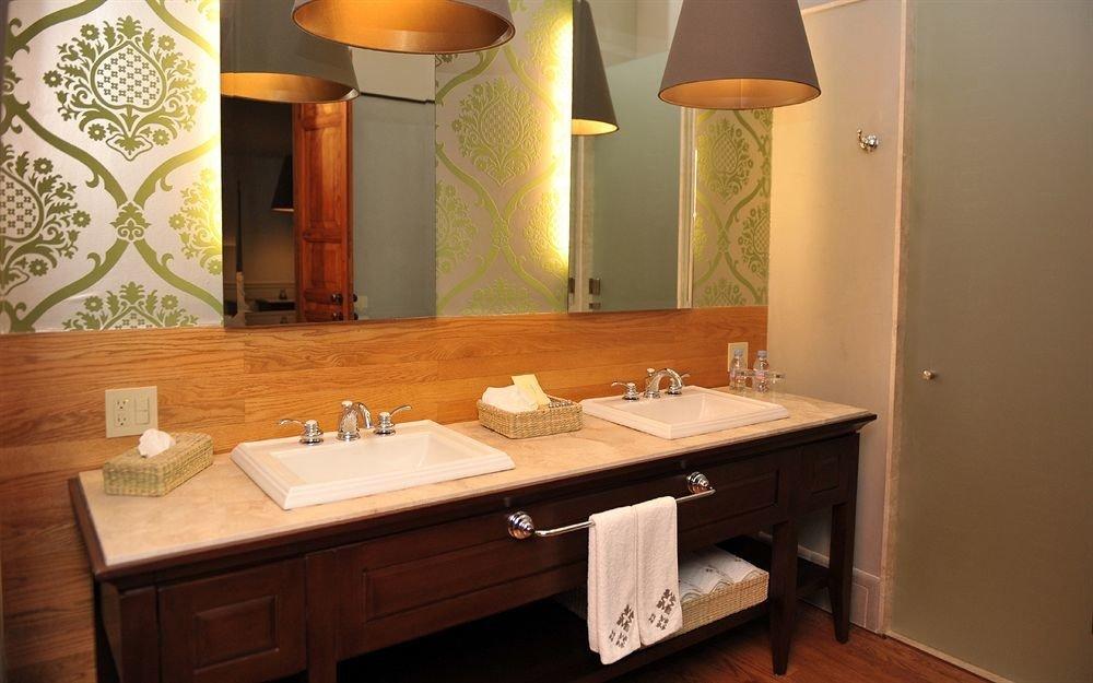 Bath bathroom sink mirror property house home Suite cottage lighting Modern