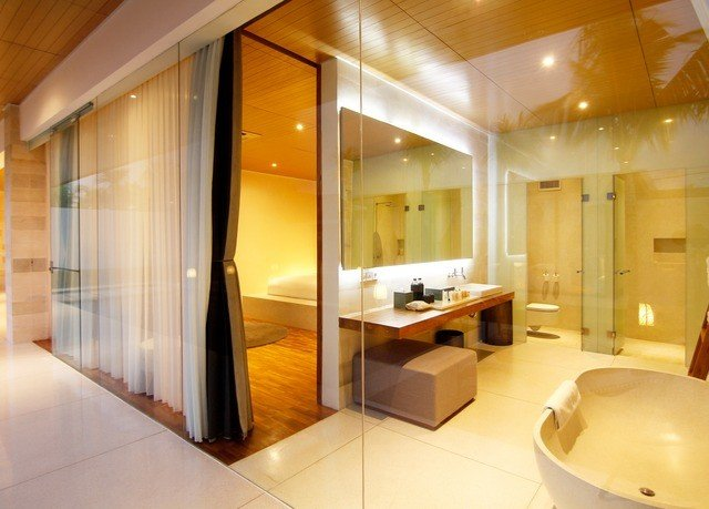 property bathroom Suite sink condominium swimming pool tub Modern Bath bathtub