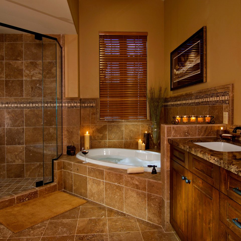 Bath Resort Romance Romantic Suite bathroom property home hardwood cabinetry sink flooring counter cottage wood flooring tile