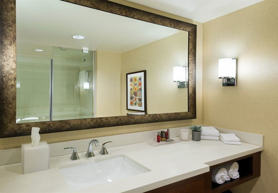 Bath Resort bathroom sink mirror property counter Suite home vanity clean
