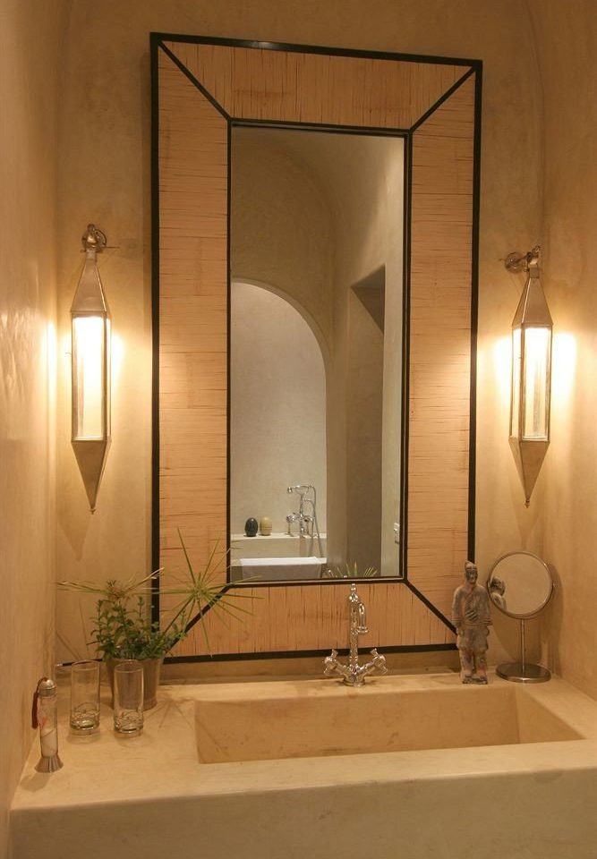 bathroom mirror sink toilet lighting arch daylighting plumbing fixture Suite Bath