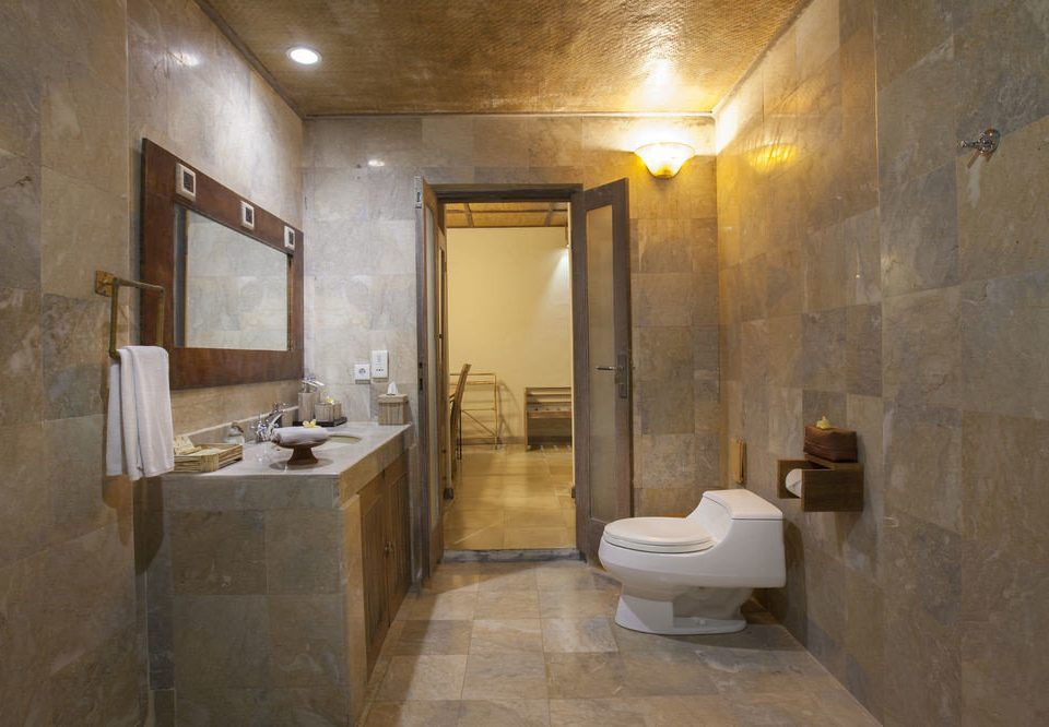 bathroom property plumbing fixture sink flooring Suite public toilet toilet stone Bath basement tub tan