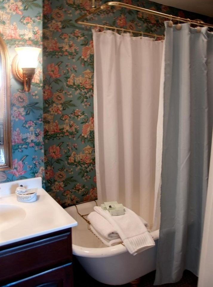 bathroom curtain toilet shower tub plumbing fixture textile Suite window treatment Bath bathtub tiled
