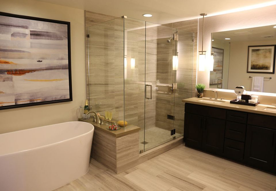 bathroom property home cabinetry flooring Suite tub Bath bathtub