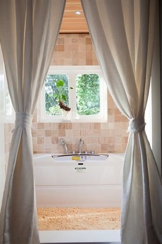 curtain tub shower textile window treatment Bath bathtub material bathroom Suite