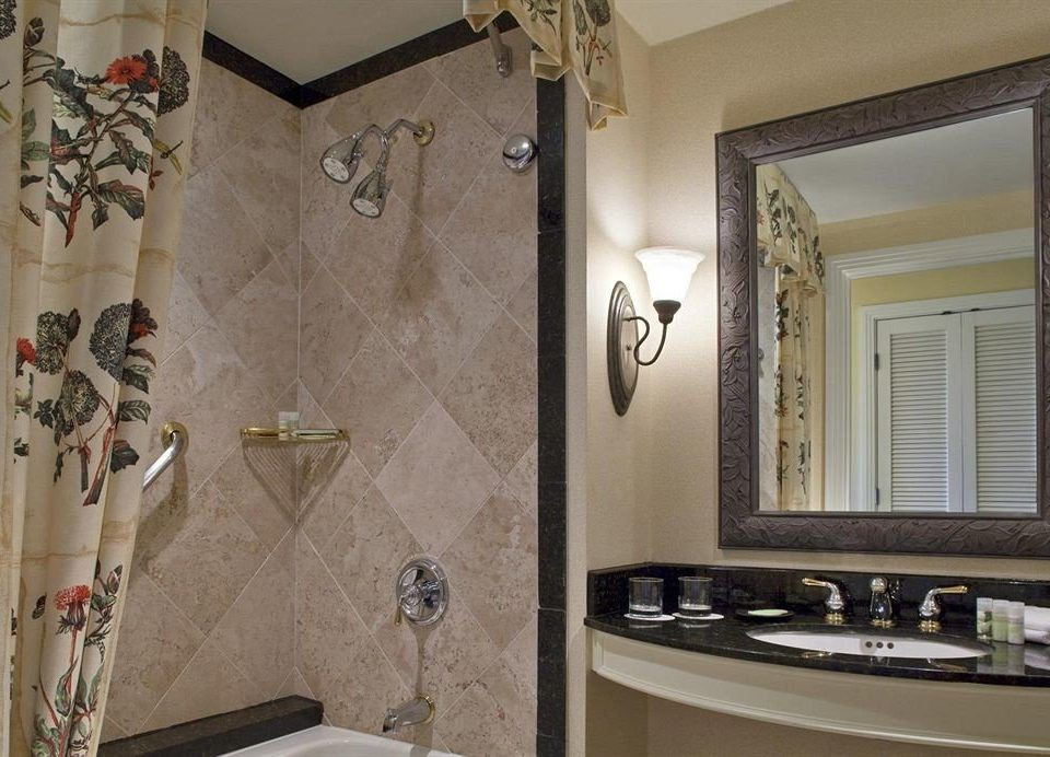 bathroom sink property home Suite cottage flooring Bath tile tiled