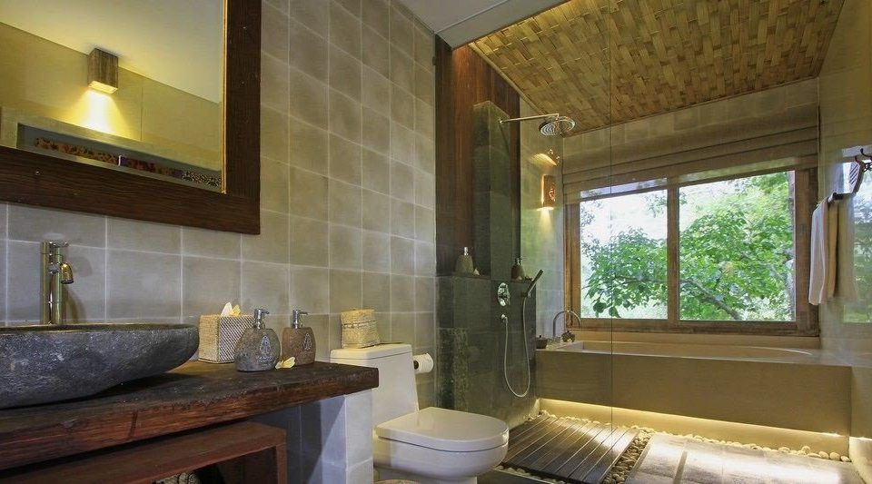 property bathroom sink home mansion Suite cottage Villa farmhouse counter tub Bath bathtub stone