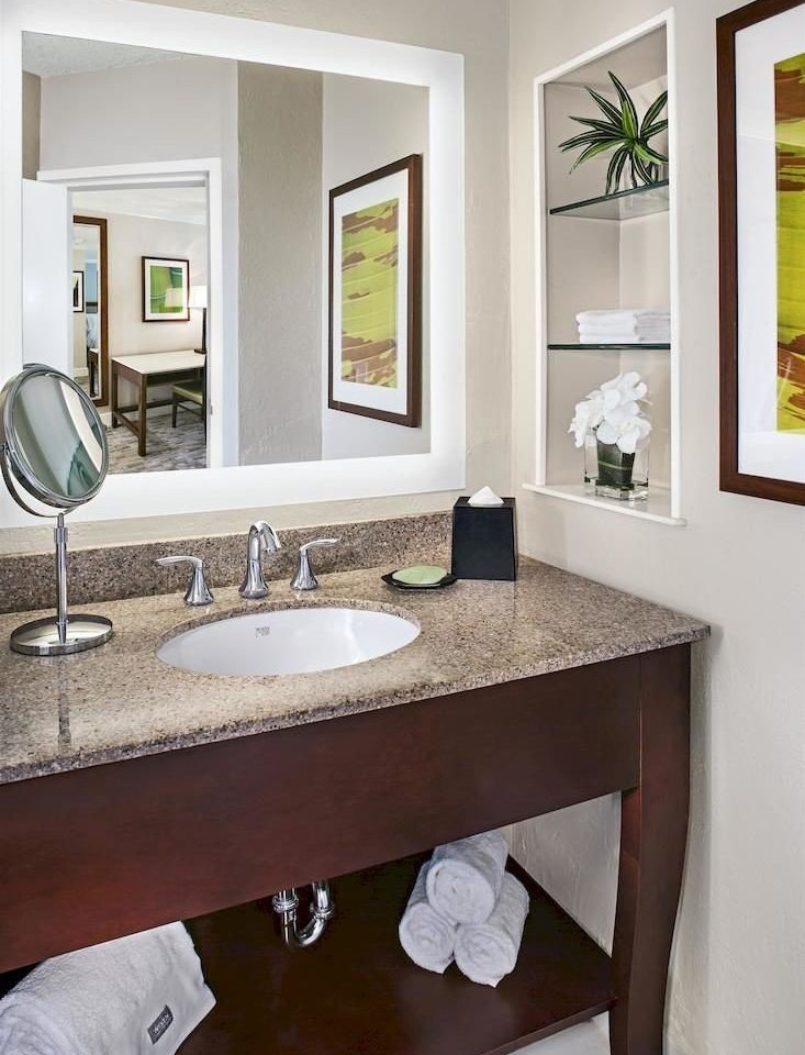 bathroom sink mirror home hardwood counter cabinetry cottage bathroom cabinet