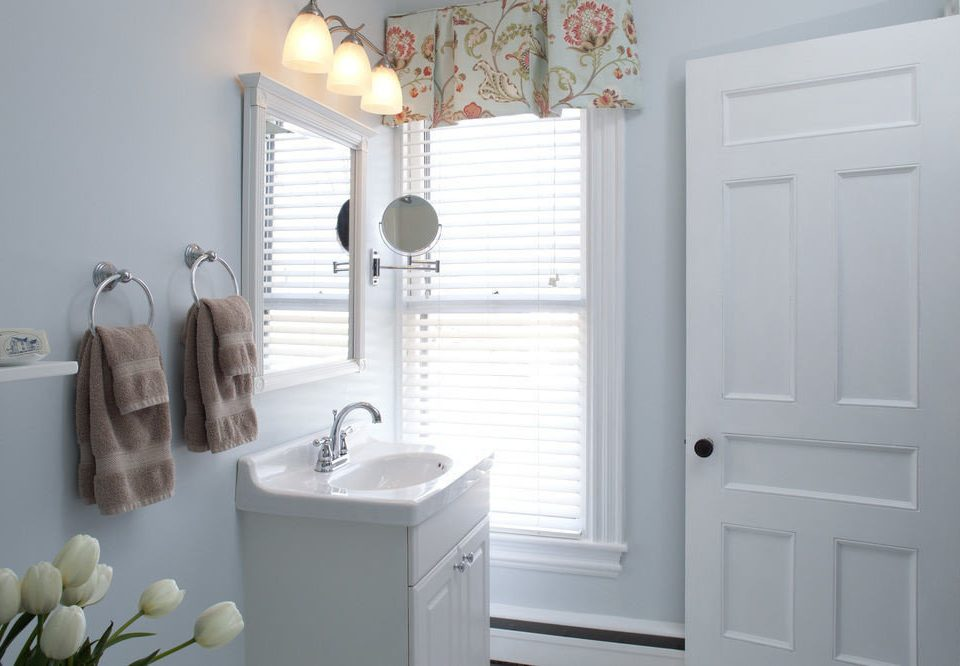 white bathroom home sink bathroom cabinet cottage