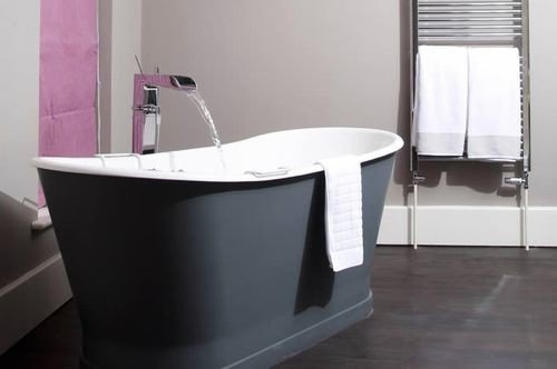 bathtub bathroom plumbing fixture bidet sink flooring toilet