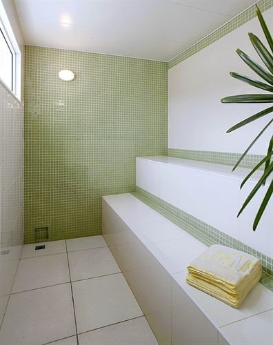 property bathroom flooring condominium tile daylighting bathtub tiled
