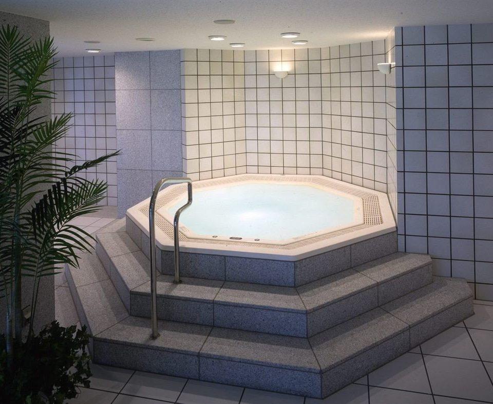 swimming pool property daylighting jacuzzi bathtub plumbing fixture flooring plant toilet tile tiled bathroom water basin