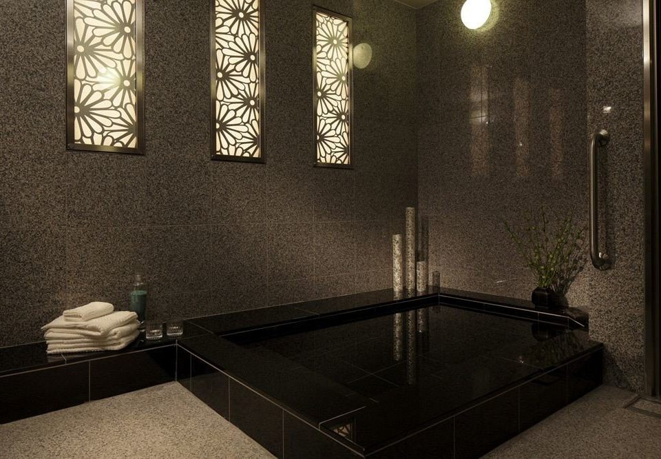 bathroom lighting plumbing fixture flooring tile bathtub