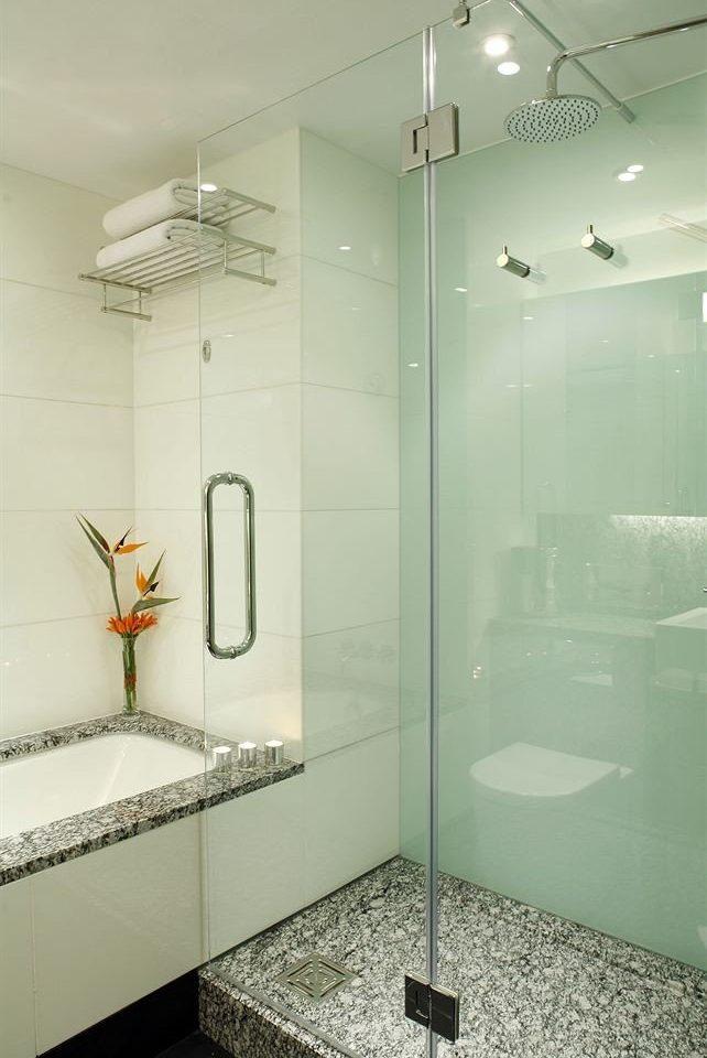 bathroom plumbing fixture shower bathtub glass vessel toilet