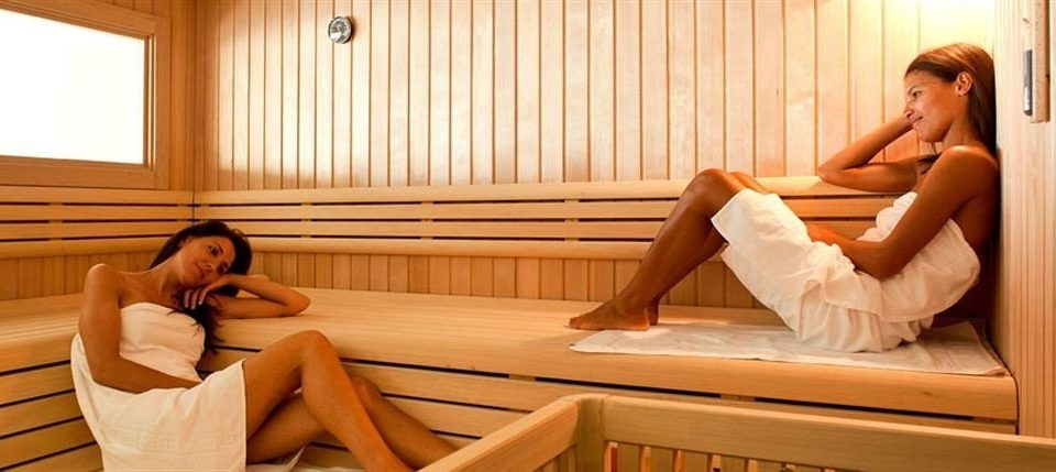 sitting woman bathroom leisure laying sauna swimming pool beautiful