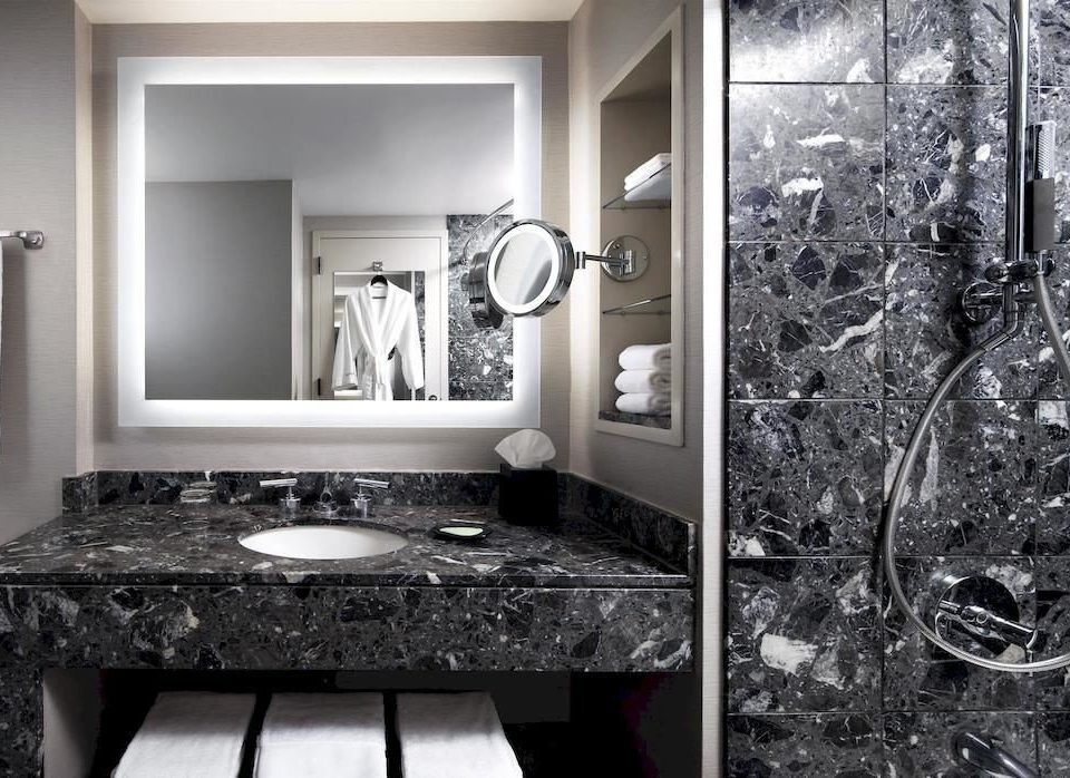 bathroom black and white sink home countertop monochrome material