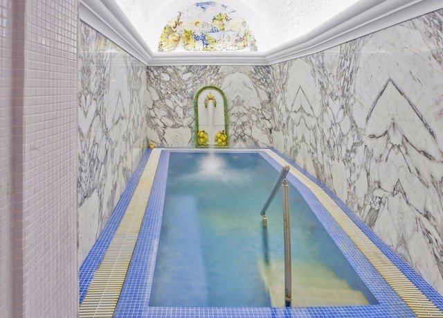 blue mural swimming pool flooring material glass bathroom