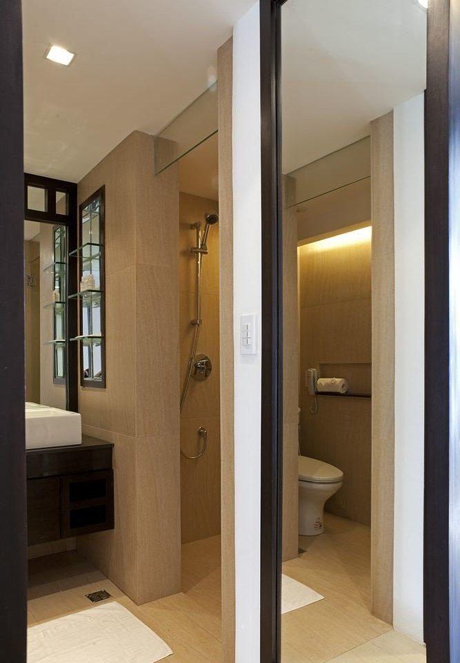 bathroom mirror building property sink home door hall rack