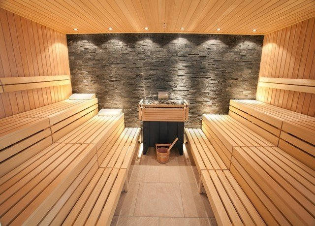 wooden building man made object swimming pool hardwood sauna empty stone bathroom