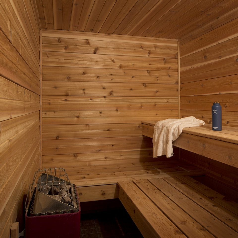 building man made object hardwood sauna wood flooring log cabin bathroom