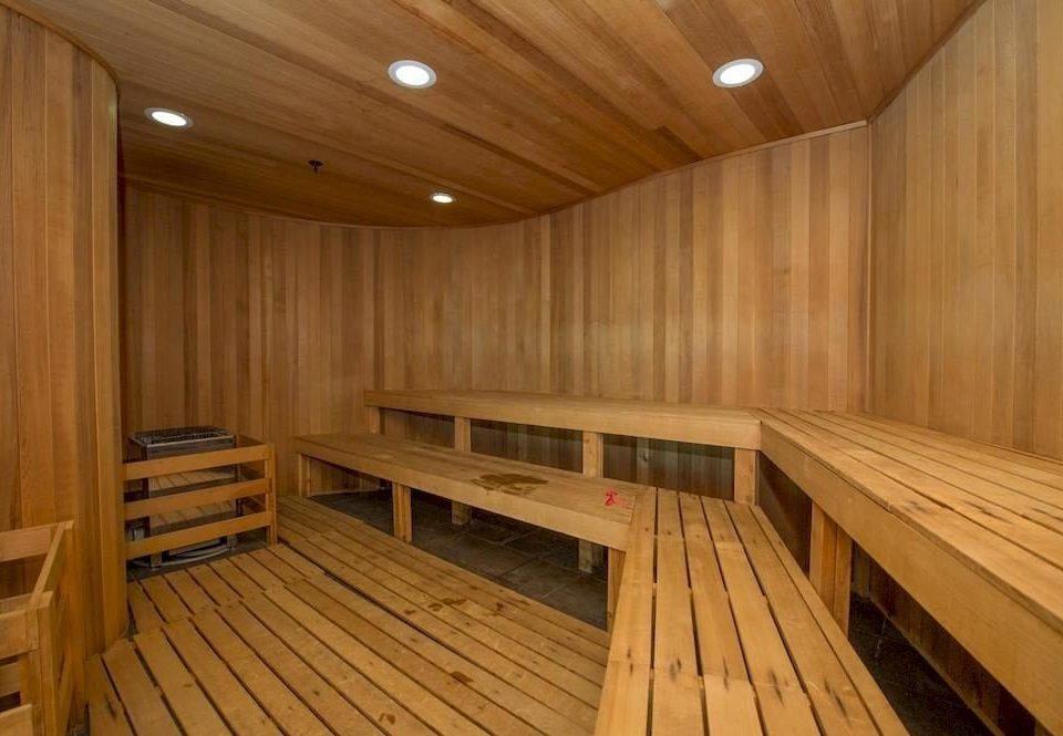 wooden building sauna bathroom