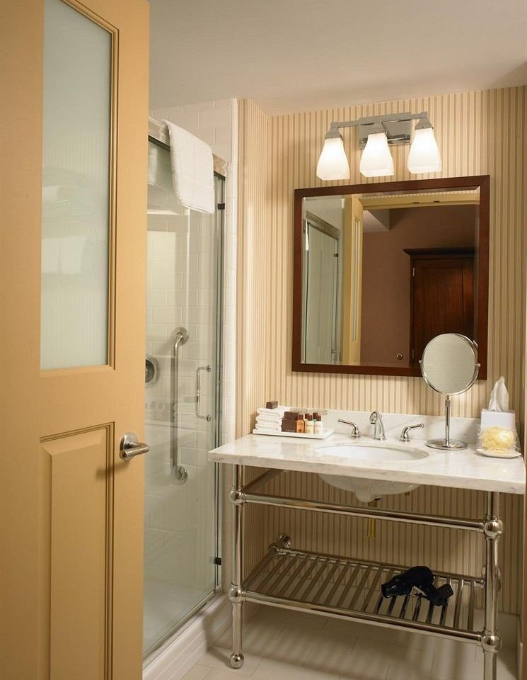 bathroom mirror property sink cabinetry