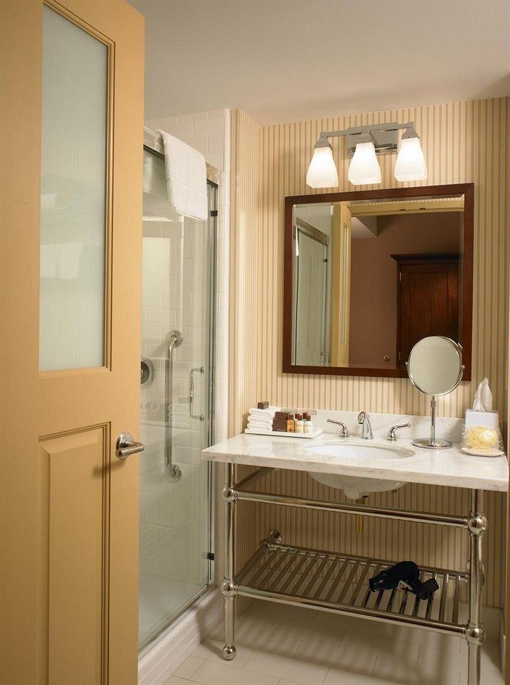 bathroom mirror property sink cabinetry