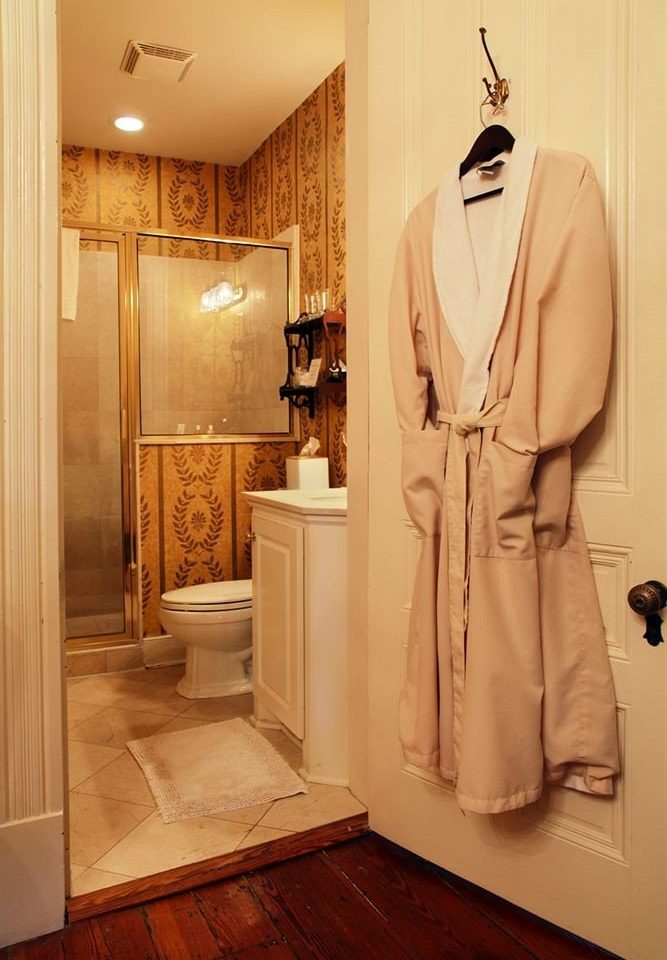 bathroom clothing dress gown