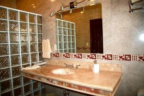 bathroom property sink countertop cottage tile tiled