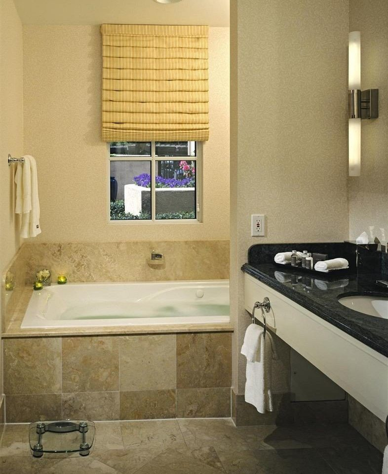 bathroom sink mirror property home house cottage flooring tan