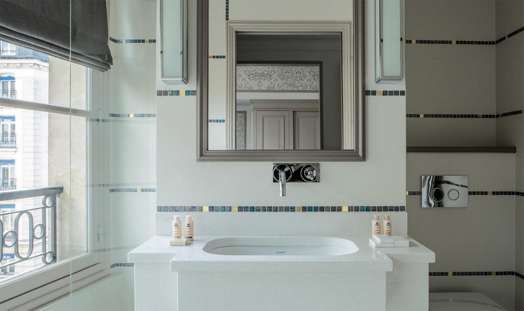 bathroom property sink home toilet white flooring cottage