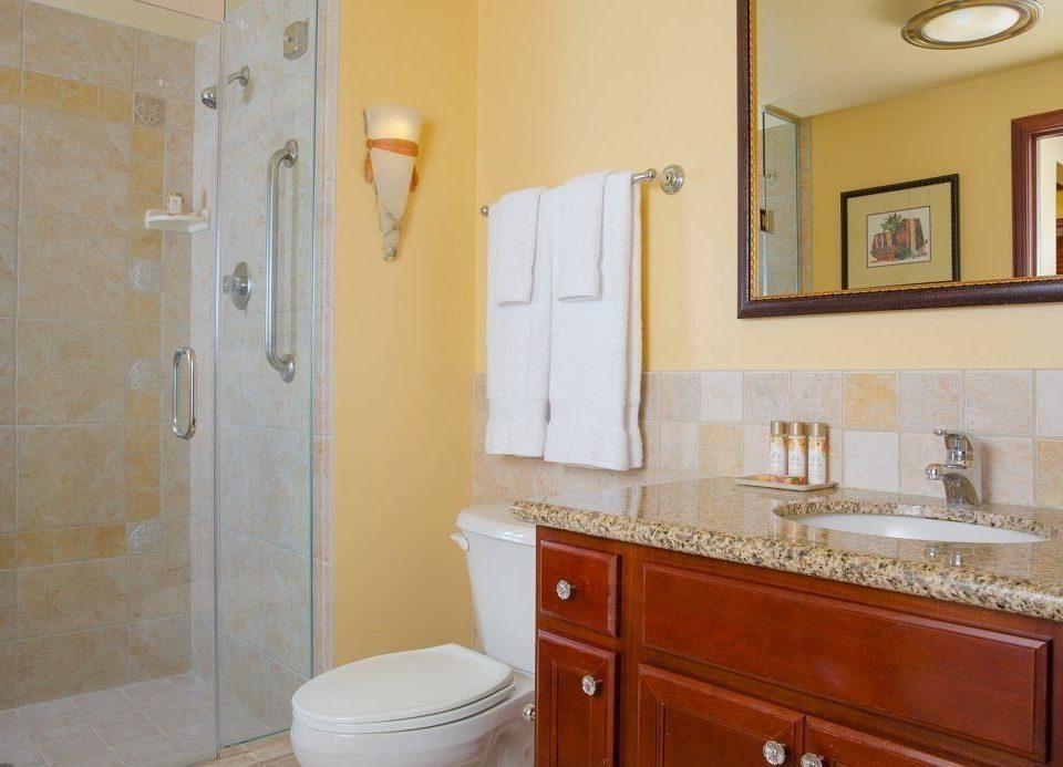 bathroom property home sink cottage flooring tan