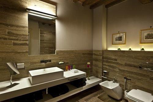 bathroom mirror property sink home lighting cottage loft