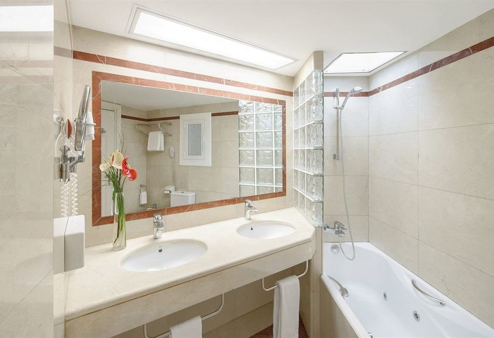 bathroom property sink home cottage toilet tan tiled